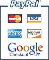 Credit Card-Paypal-Google Payment Methods